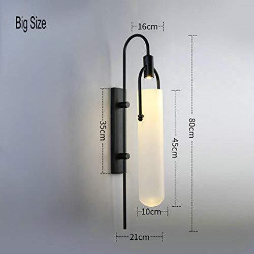 Nachttafelverlichting moderne ouderwetse klassieke wandlamp glazen kandelaar LED-wandlamp E27 woonkamer slaapkamer grappig size_5W wit licht