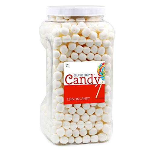 Kosher Dehydrated White Marshmallows Hardy Bites in Jar, Gluten Free, Nut Free & Fat Free, Star-K Kosher Certified, Perfect Topping for Ice Cream, Baking and Hot Chocolates - (Large)