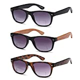GAMMA RAY 3 Pairs Bifocal Gradient Sunglasses Readers Reading Glasses - 2.00x