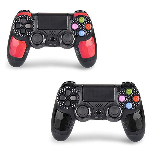2 Pack Wireless Controller for PS4 - Foster Gadgets Remote Joystick for Sony Playstation 4 with Charging Cable