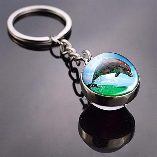 Bijvoorbeeld sleutelhanger Turtle Keychain hanger Sea Turtle Starfish Dolphin Octopus schattig dier sleutelhanger sleutelhanger Ocean Jewelry Accessoires