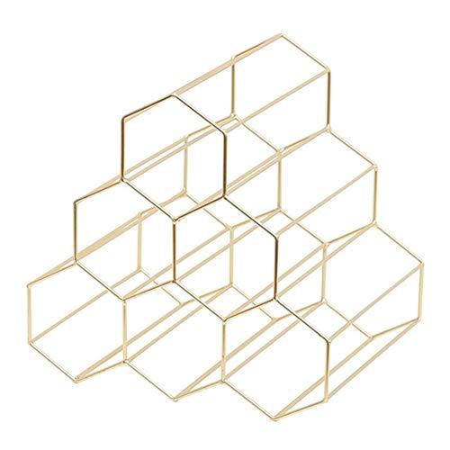 SJZS Vino Bastidores Creativo geométrica Simple Estante del
