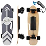 ANCHEER 28inch Electric Skateboard Longboard with Wireless Remote E-Skateboard for Adults and Youths, 20 KM/H Top Speed, 350W Singal Motor,Complete Cruiser Skateboard (Black)