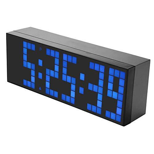 Despertador digital electrónico, 6 dígitos Jumbo LED Calendario de alarma digital Snooze Reloj de escritorio de pared Escritorio de gran tamaño Reloj de pared de oficina con pantalla de gran número