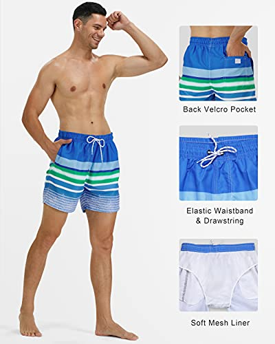 Runhit Mens Swim Trunks Quick Dry Board Shorts Bathing Suits with Mesh Lining