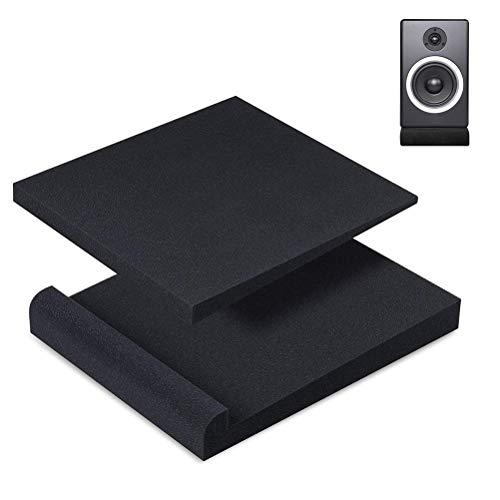Asamio - Almohadillas de aislamiento para monitor de estudio (2 unidades, espuma acústica de alta densidad)