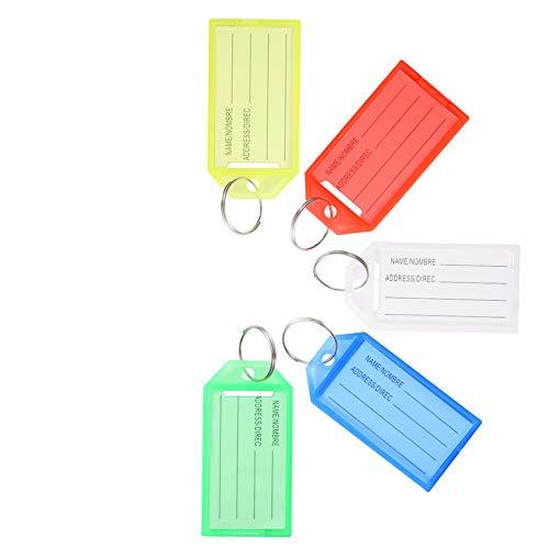 You&Lemon 20 Stück Schlüsselanhänger Beschriftbar Colorful Schlüssel Schilder Kompakt schlüsselschilder
