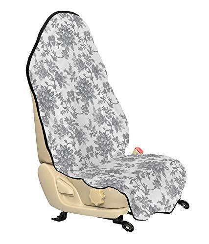 ABAKUHAUS Bloemen Beschermhoes voor autostoelen, Petals, met Antislip Achterkant, Universele Maat, 75 x 145 cm, Dimgray
