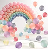FORMIZON Palloncini Pastello, 120 Pezzi 10 Pollici Macarons Palloncini in Lattice per la Decorazione della Feste di Compleanno per Matrimoni Accessori per Feste