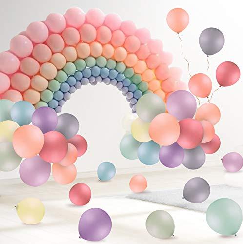 FORMIZON 120 Pcs Globos Pastel, Macaron Látex Globos de Cumpleaños para Decoración Fiesta/Día de San Valentín/Decoraciones/Navidad/Comunión Bodas