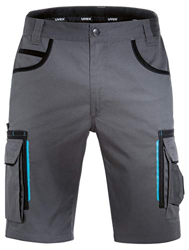 Uvex Tune-Up Arbeitshosen Männer Kurz - Shorts für die Arbeit - Grau - Gr 36W/Etikettengröße- 54