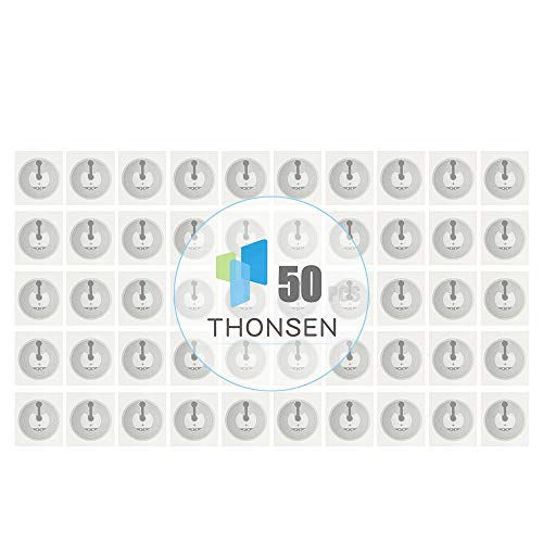 THONSEN 50 Pieces NFC Stickers NTAG215 NFC Tags 25mm(1 inch) Compatible with TagMo Amiibo for All NFC Enabled Phones and Devices