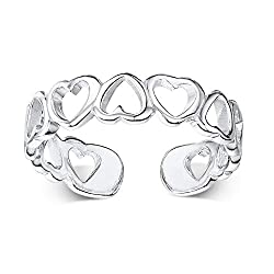 PREMIUM QUALITY JEWELLERY - Amberta jewellery is designed to last a lifetime. Made from fine 925 sterling silver. It has a gap in the back so that it can be adjusted to fit your toe or finger nicely. Has a cut out heart design. QUALITY ASSURED - Made...