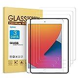 apiker [3 Packs] Protector Pantalla Tablet Compatible con iPad 8/7 10.2 2019/2020 A2197 A2198 A2200 (7.ª/ / 8ª generación), Cristal Templado Tablet Premium [9H Dureza] [Alta Definición]