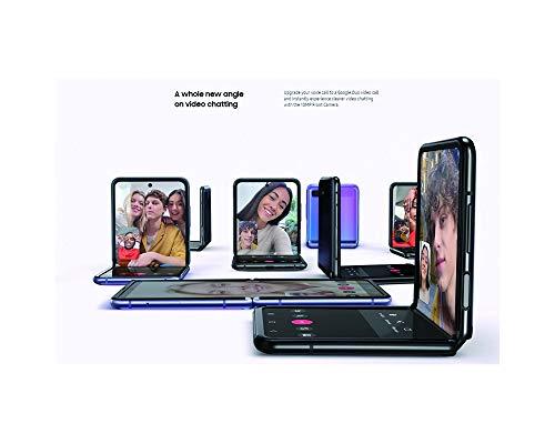 Samsung Galaxy Z Flip 4G LTE Model SM-F700N / 256GB / Factory Unlocked No Warranty - Korean International Version (Mirror Black)