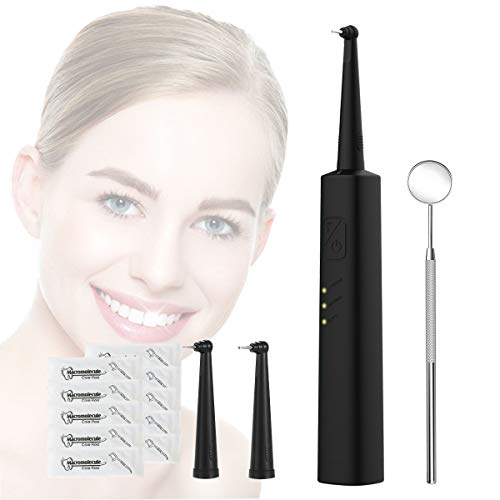 Ultrasonic Tooth Cleaner IPX8 Waterproof Electric Dental Calculus Remover Plaque and Tartar Remover for Teeth with 3 Cleaning Modes & 2 Replacement Cleaning Head