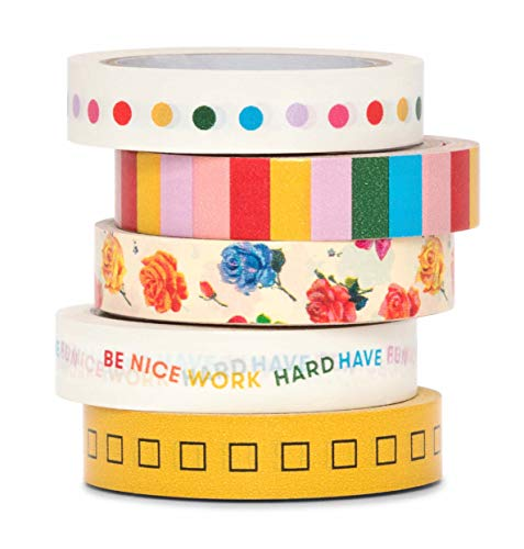 Ban.do Stick with It Paper Tape Rolls, Set of 3, Mega Pack Assorted