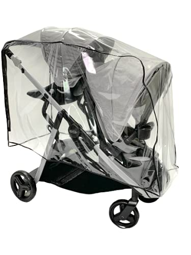 Sasha's Premium Rain Shield and Wind Cover for Baby Stroller, Compatible with Graco Ready2Grow LX 2.0 Double Stroller