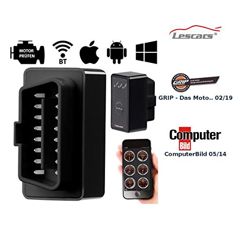 Lescars OBD2-professionele adapter OD-200.apc, Bluetooth, voor Android-apparaten