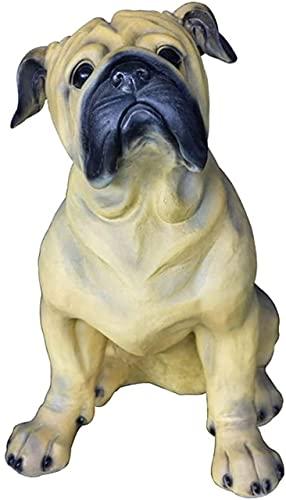 KHLKHBK Scultura da Tavolo Statua Statua Simulazione Scultura Animale Cane Grande, Decorazione per la casa Giardino Porta della comunità Artigianato in Resina all