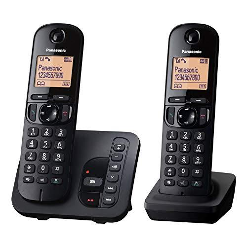 Panasonic KX-TGC222GB Schnurlostelefon mit AB KX-TGC222 schwarz