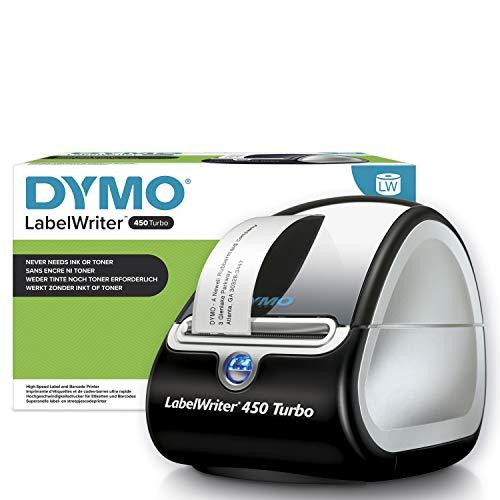 DYMO LabelWriter 450 Turbo Etikettendrucker, Professioneller thermischer Hochgeschwindigkeitsdrucker für Ihren PC/Mac