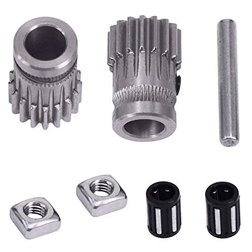Dual Gear Drive Wheel,Upgrade Cloned Btech Mini Bowden Extruder Extrusion Wheel,for MK2 / MK3 Reprap Prusa i3 3D Printer