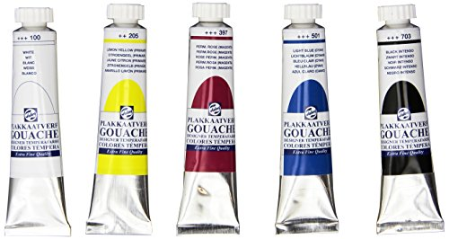 Gouache Royal Talens Angora Watercolor Paints, Set of 5 Colors