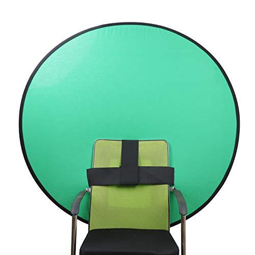 グリーンバック zoom クロマキー 背景 椅子取り付け 簡単収納