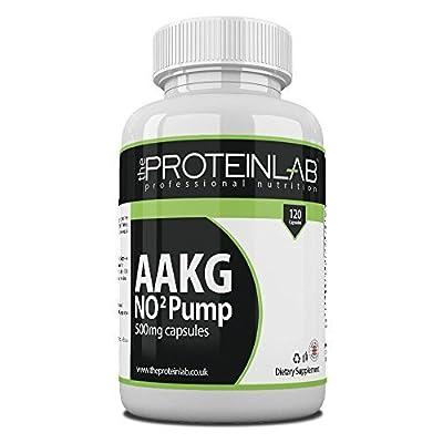 The Protein Lab AAKG - 500mg Arginine Alpha Ketoglutarate L-Arginine Nitric Oxide 120 Bottle Capsules Pre Work Out