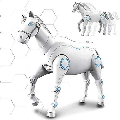 Remote Control Smart Robot Horse Toy, Interactive Voice Electronic Pets, Intelligent Robotic Smart Horse, Programming,Walking,Dancing and Singing,Children Kids Boys&Girls Educational Toys Gift