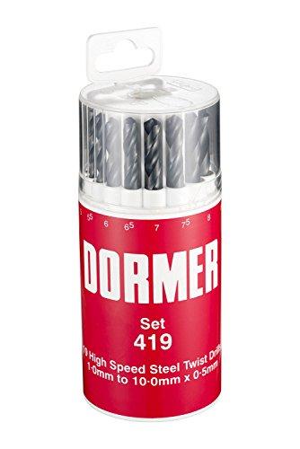 Dormer Jobber Drill Set, Set of 19