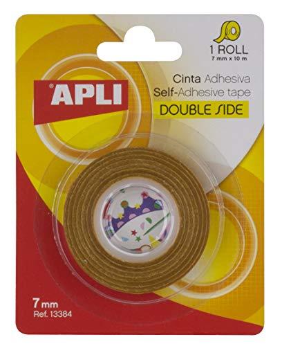 APLI 13384 - Cinta adhesiva celo doble cara 7 mm x 10 m