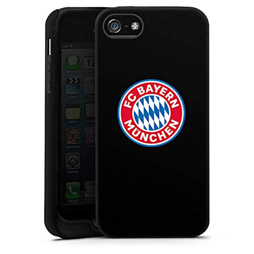 DeinDesign Panzer Handyhülle kompatibel mit Apple iPhone SE (2016-2019) robuste Outdoor Hülle Schutzhülle matt FC Bayern München Fußball Offizielles Lizenzprodukt