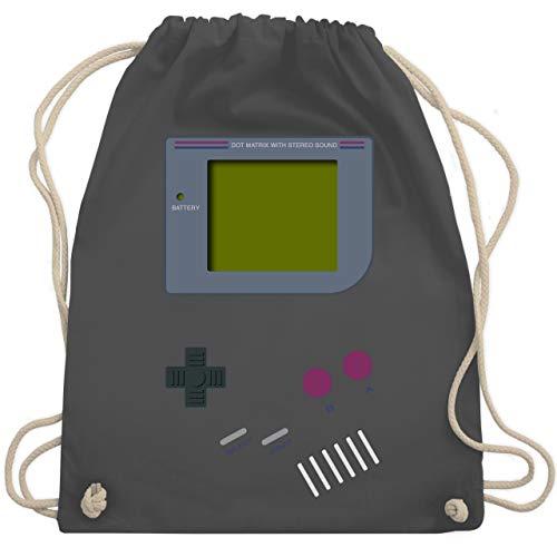 Shirtracer Nerds & Geeks - Gameboy - Unisize - Dunkelgrau - rucksack game boy - WM110 - Turnbeutel und Stoffbeutel aus Baumwolle