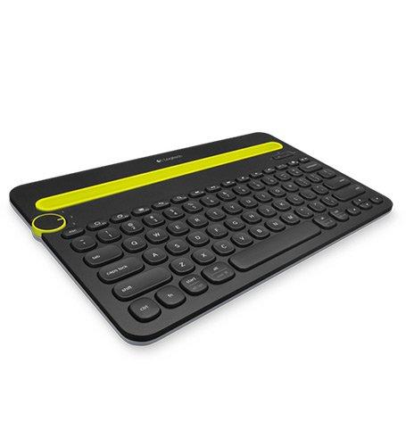 Logitech K480 Kabellose Bluetooth-Tastatur für Computer, Tablet und Smartphone, Multi-Device & Easy-Switch Feature, Kompaktes Design, PC/Mac/Tablet/Smartphone, Skandinavisches QWERTY-Layout - schwarz