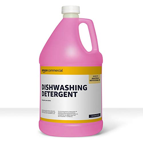 AmazonCommercial Dishwashing Detergent, 1-Gallon, 2-Pack