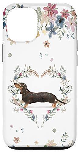 iPhone 12/12 Pro Dachshund Watercolor Illustrated Art Phone Case