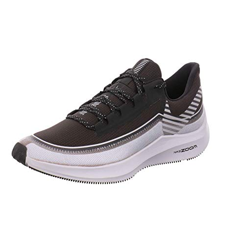Nike Men's Air Zoom Winflo 6 Shield Running Shoes (12, Black/Grey-M)