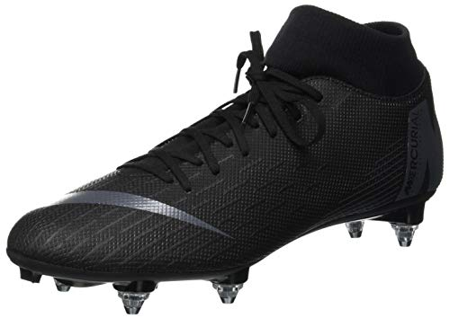 Nike Unisex-Erwachsene Mercurial Superfly VI Academy SG-Pro Fitnessschuhe, Schwarz (Black/Black 001), 42 EU