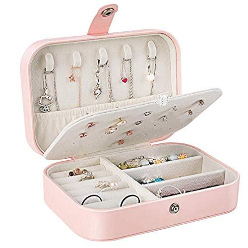 Preisvergleich Produktbild Rsjbd Jewellery Box,  Kunstlederschmucketui für Damen- und Mädchenringe,  Ohrringe,  Aufbewahrungsboxen für Schmuck zum Organisieren von Halsketten