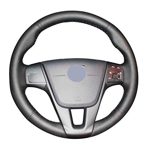 JIERS Cubierta del Volante del Coche, para Volvo S60 2011-2014 V40 V60 XC60 2013-2017, Cubiertas de Volante de Coche Cosidas a Mano