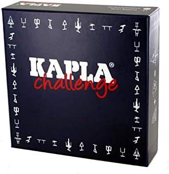 Kapla 8027- Madera Desafío de diapositiva, 16piezas con 12tarjetas de juego , color/modelo surtido