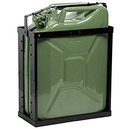 Oxid7® Kanisterhalterung für 20 Liter Metall Kanister - Benzinkanister Halterung abschließbar für 20L Metallkanister