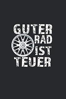 GUTER RAD IST TEUER: Liniertes Motor Auto Zylinder Hubraum Turbo Schrauber V 6 8 12 Geschenk Notizbuch oder Notizheft lini...