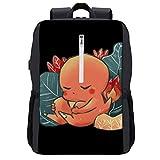 Monster of The Pocket Sleeping Charmander Backpack Daypack Rucksack Laptop Shoulder Bag with USB Charging Port