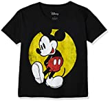 Disney Mickey Mouse Big Boy's Classic Mickey Mouse T-Shirt, Black, Large