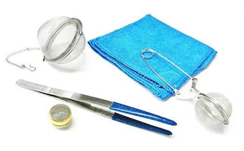 Herramientas de limpieza de la joyería Accesorios de limpieza de vapor ultrasónico PVC pinzas cestas inoxidables micro fibra que limpia la toalla
