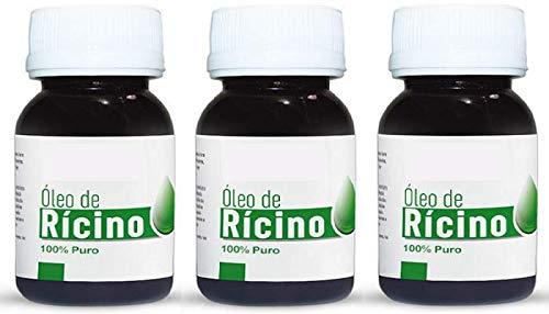 Kit Óleo de rícino 100% puro 3x60mL