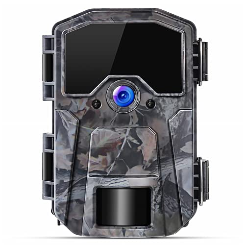 Cámara de Caza 20MP 1080P con LED Infrarrojos Invisibles Visión Nocturna, Intervalos de Tiempo, Temporizador y Diseño Impermeable IP66 para Observación de Vida Silvestre
